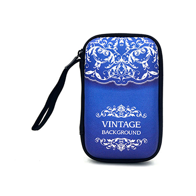 Blue Video Game Travel Case With Screen Printing Logo